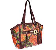 As Is Isaac Mizrahi Live! Bridgehampton Floral Print Canvas Tote - A264093