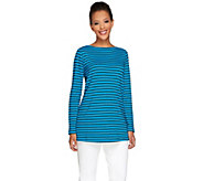 Susan Graver Novelty Knit Long Sleeve A-Line Tunic - A266793