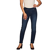Women with Control Regular Pull-on Slim Leg Ankle Jeans - A270693
