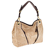 As Is orYANY Anaconda Leather Medium Shoulder Bag - Bette - A271893