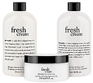 philosophy soft & smooth fresh cream trio - A271993