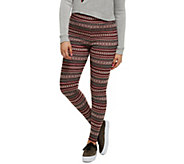 Bethany Mota Pull-On Fair Isle Jacquard Knit Leggings - A273793