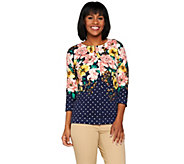 Isaac Mizrahi Live! Engineered Floral Dot Cardigan - A276593