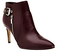 As Is Marc Fisher Leather Pointed-Toe Ankle Boots - Trinity - A277693