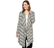 Barefoot Dreams Chic Lite Drape Front Striped Calypso Wrap - A281793