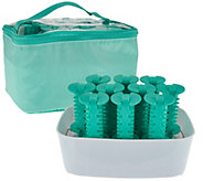 Conair Set of 10 Silicone Hot Rollers with Travel Pouch - A283893