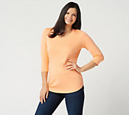As Is Isaac Mizrahi Live! Essentials Pima Cotton 3/4 Sleeve Tunic - A287393
