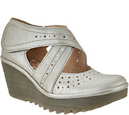 FLY London Leather Cross-strap Mary Janes - Yepe - A290993