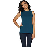 Denim & Co. Essentials Perfect Jersey Mock Neck Tank Top - A294093