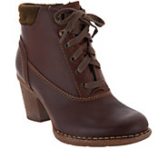 Clarks Artisan Leather Lace-up Ankle Boots - Carleta Crane - A297793