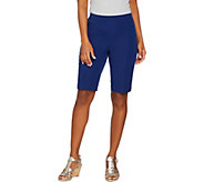 As Is Isaac Mizrahi Live! 24/7 Stretch Pull-on Bermuda Shorts - A299793