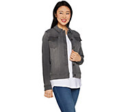 Martha Stewart Knit Denim Jean Jacket - A301093