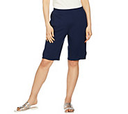 As Is Denim & Co. Active Bermuda Shorts with Stitch Detail - A303093