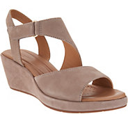 Clarks UnStructured Leather Wedge Sandals - Un Plaza Sling - A304293