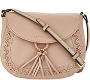Tignanello Pebble Leather Saddle Crossbody- Handbag-Lillie - A304493