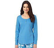 Jockey Separates Peached Jersey Long Sleeve Lounge Top - A331193