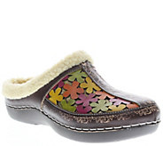 Spring Step LArtiste Leather and Textile Clogs- Woodbine - A338193