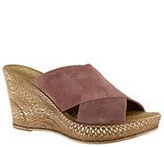 Bella Vita Leather Wedge Sandals - Edi-Italy - A363393