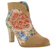 LArtiste by Spring Step Suede and Textile Boots - Vaso - A363693