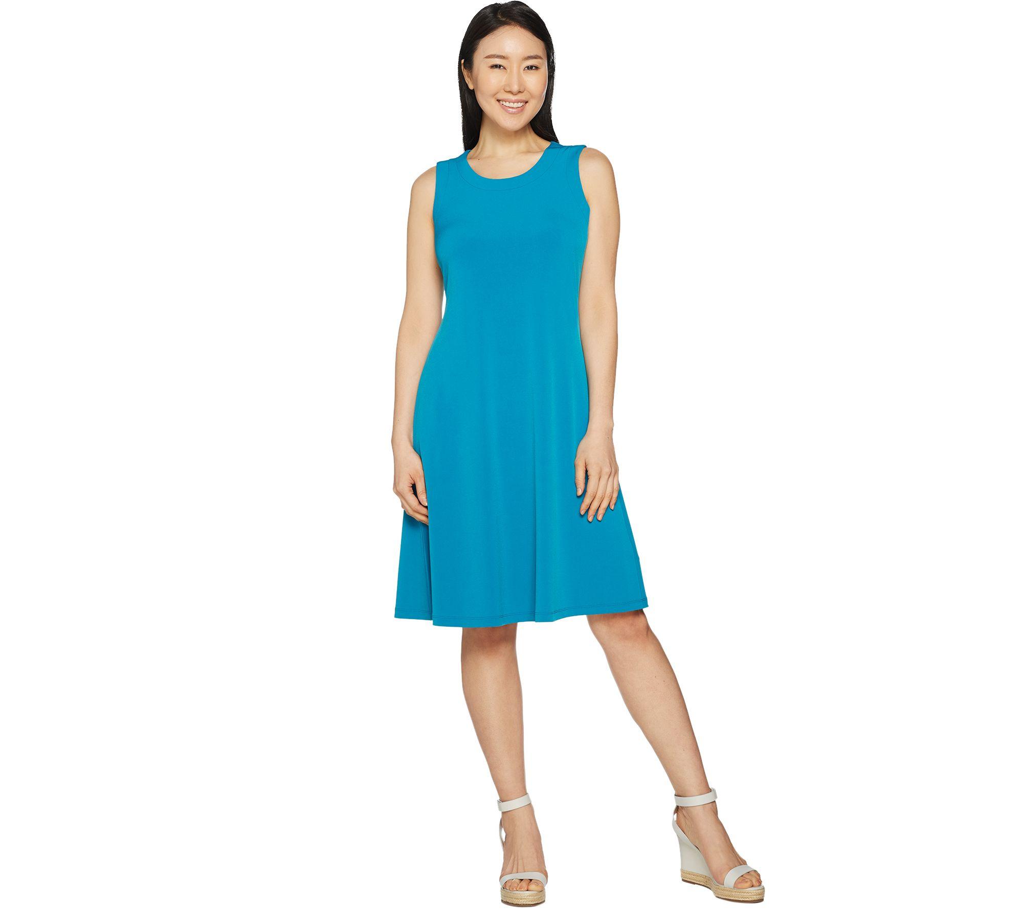 Christmas dress attire for age 57 - Susan Graver Liquid Knit Sleeveless Dress A290794