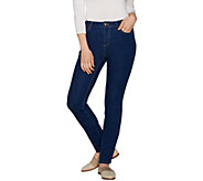 LOGO by Lori Goldstein Stretch 5-Pocket Skinny Jean - A297094