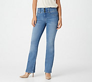 Laurie Felt Regular Curve Silky Denim Boot Cut Pants - A301694