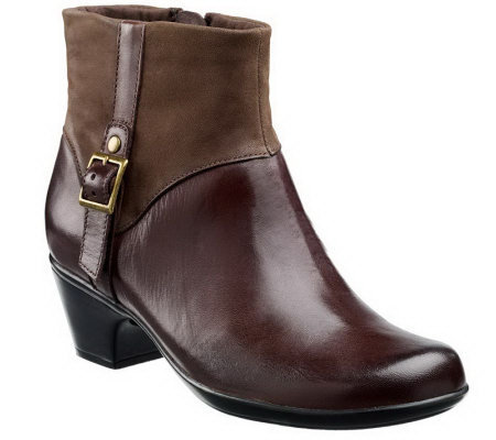 Clarks Bendables Ingalls Dover Leather Ankle Boots