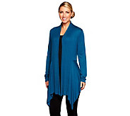 Attitudes by Renee Drape Front Cardigan with Rib Detail - A237095