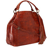 G.I.L.I. Leather Croco Embossed Large Roma Tote - A237595