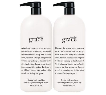 philosophy super-size amazing grace emulsion 32 oz. duo - A237795
