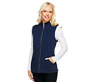 Liz Claiborne New York Essentials Mock Neck Knit Vest - A240395