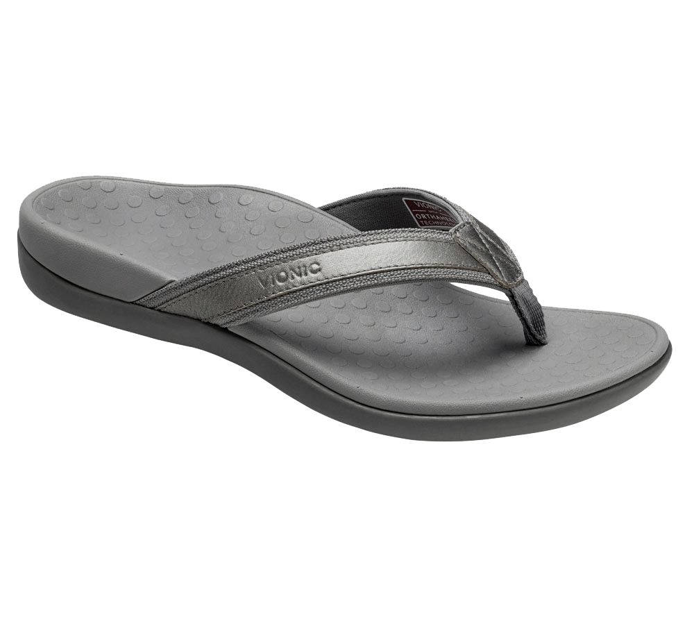 Vionic Orthotic Leather & Mesh Thong Sandals - Tide II