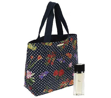 Oscar de la Renta Eau De Toilette Spray & Fashion Tote Bag