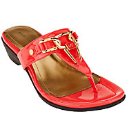 Marc Fisher Thong Sandals w/ Hardware Accent - Alining - A263995