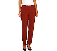 As Is Susan Graver Petite Chelsea Stretch Pants with Pockets - A264295