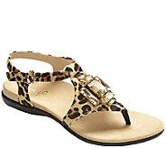 Vionic Orthotic Embellished T-strap Sandals - Tatiana - A264895