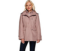 Liz Claiborne New York Zip Front Anorak Coat w/ Quilting - A266695