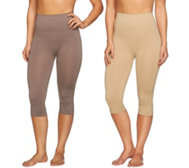 Airbrusher by Women with Control Shaping Capri Set of Two
