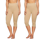 Airbrusher by Women with Control Shaping Capri Set of Two - A269095