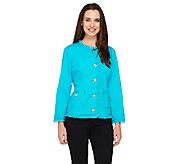 As Is Joan Rivers Parisian Chic Denim Jacket with Bracelet Sleeve - A272795