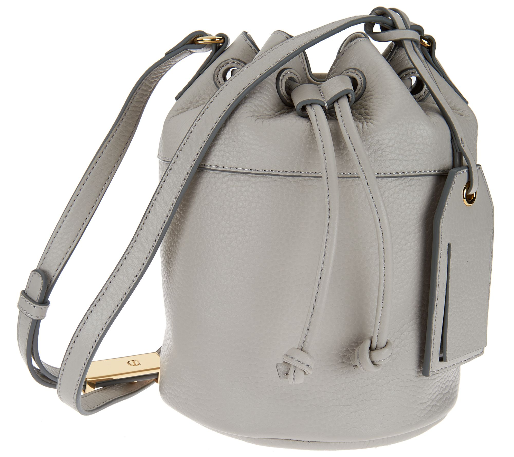 Isaac Mizrahi Live! Nolita Pebble Leather Mini Bucket Bag