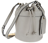 Isaac Mizrahi Live! Nolita Pebble Leather Mini Bucket Handbag - A273895