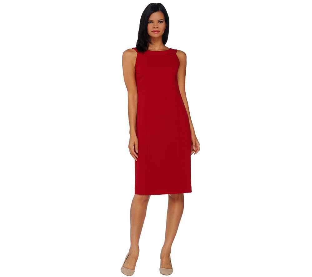 Quot As Is Quot Susan Graver Chelsea Stretch Sleeveless Dress