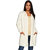 As Is Isaac Mizrahi Live! SOHO Hooded Sweater Coat - A277395