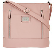 Tignanello Pebble Leather Large RFID Crossbody with Front Zips - A278095