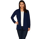 Susan Graver Weekend Cotton Modal Open Front Cardigan - A278895