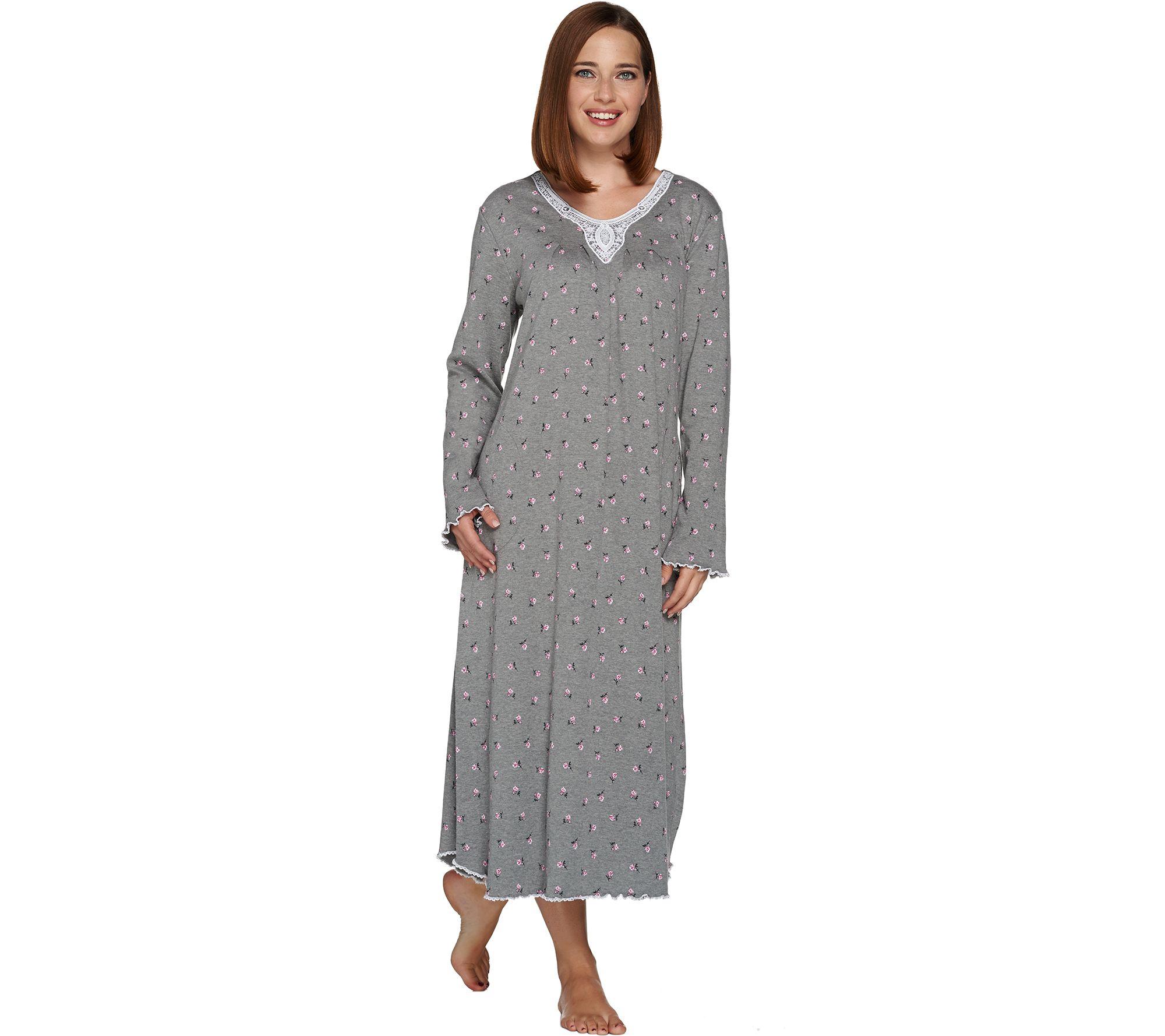 Carole Hochman Rose Bud Interlock Long Gown - Page 1 — QVC.com