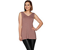 H by Halston Essentials Sleeveless V-Neck Knit Tunic - A280395