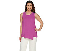 Lisa Rinna Collection Sleeveless Top with Overlay Detail - A288995