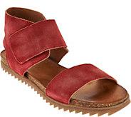 Miz Mooz Suede Ankle Wrap Sandals - Rori - A290595